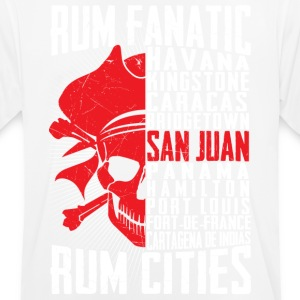 T-shirt Rum Fanatic - San Juan, Puerto Rico - Men's Breathable T-Shirt