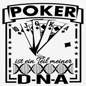 DNA POKER BLACK - Männer T-Shirt atmungsaktiv