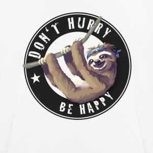 sloth sloth chilling sleep Slow happy humor fun - Men's Breathable T-Shirt