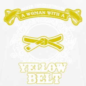 No woman with yellow belt - Men's Breathable T-Shirt