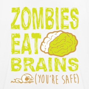 ZOMBIES EAT BRAINS T-SHIRT - Herre T-shirt svedtransporterende