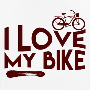 Love my bike - mannen T-shirt ademend