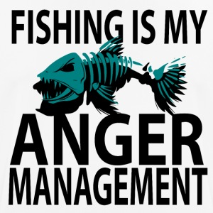 Anger Management - Fishing - Men's Breathable T-Shirt