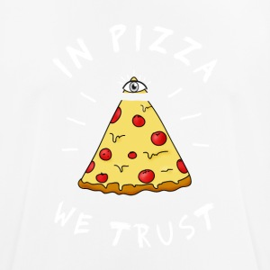 In pizza we Trust Illumination Pyramid Eye Humor - Men's Breathable T-Shirt