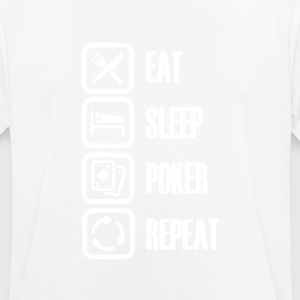 Eat Sleep Poker - For ægte poker fans - Herre T-shirt svedtransporterende