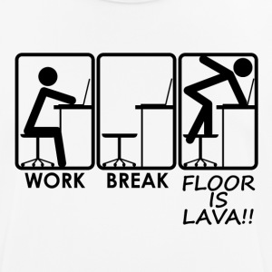"""Floor is Lava !!"" By Querverstand - Men's Breathable T-Shirt"
