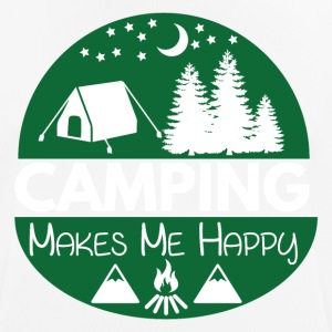 Camping Makes Me Happy - Männer T-Shirt atmungsaktiv