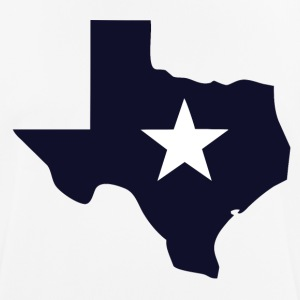 TEXAS State Outline Star - Men's Breathable T-Shirt