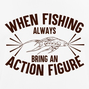 When Fishing Bring An Action Figure - Men's Breathable T-Shirt