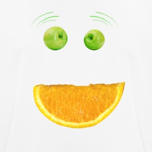 Monster ansikt Humor Frukt Apple Vegan morsom munn - Pustende T-skjorte for menn