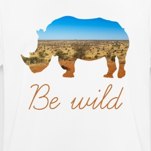 RHINO BE WILD - Men's Breathable T-Shirt