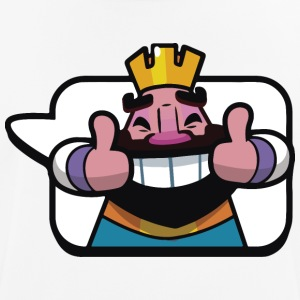 Emoticon Re Royale Clash - Maglietta da uomo traspirante