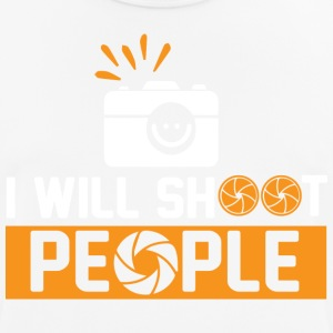 Photography - I will shoot people - Männer T-Shirt atmungsaktiv