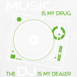 Music is my drug - the dj is my dealer green - Men's Breathable T-Shirt