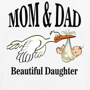 Beautiful Daughter Mom - mannen T-shirt ademend