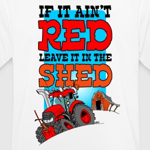 If it does not, leave it in the shed white border - Men's Breathable T-Shirt