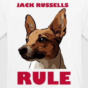 Jack russels rule red - Men's Breathable T-Shirt