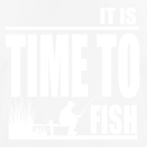 Time to Fish - Fishing - Men's Breathable T-Shirt