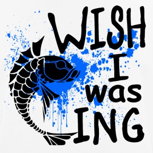 Wish i was Fishing - Fishing - Männer T-Shirt atmungsaktiv