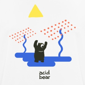 acid bear - mannen T-shirt ademend