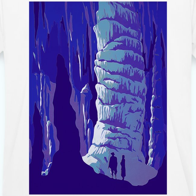 Fancy Grotto Vintage Travel Poster
