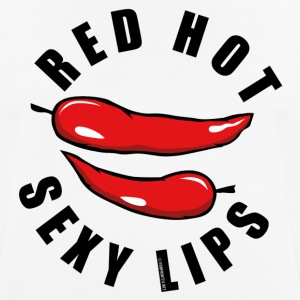 06-43A Red Hot Sexy Lips - Chili läppar - Andningsaktiv T-shirt herr
