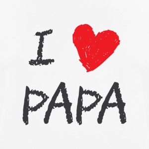 I love Papa - Men's Breathable T-Shirt