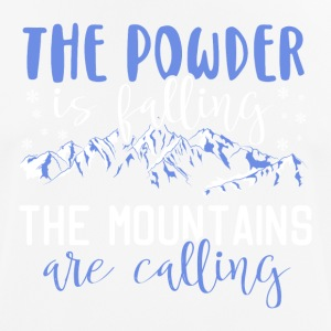 The powder is falling - The mountains are calling - Männer T-Shirt atmungsaktiv