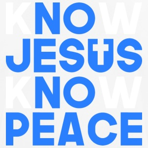 Know Jesus know peace - Men's Breathable T-Shirt