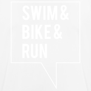 Swim Bike Run - Hvid Edition - Herre T-shirt svedtransporterende