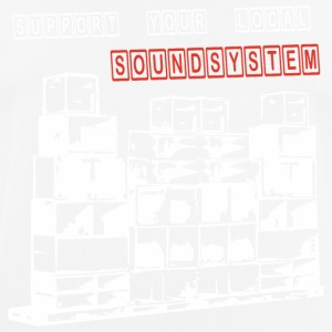 support your local soundsystem - Männer T-Shirt atmungsaktiv