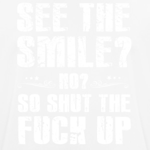Grappig! Grappig! Badass! Shut the fuck up! - mannen T-shirt ademend