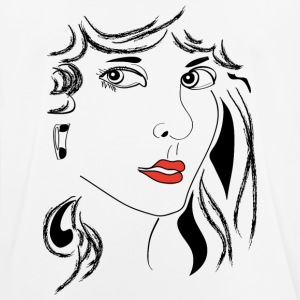 Woman Red Lips - Männer T-Shirt atmungsaktiv