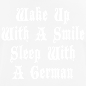 Wake Up With A Smile Sleep With A German - Men's Breathable T-Shirt