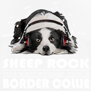 Border Collie Får Rock - Andningsaktiv T-shirt herr