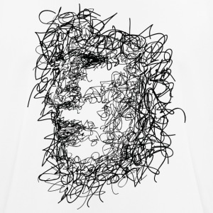 Face Scribbling - Men's Breathable T-Shirt