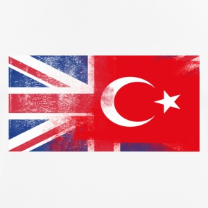 British Turkish Half Turkey Half UK Flag - Andningsaktiv T-shirt herr