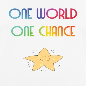 One World One Chance - Pustende T-skjorte for menn