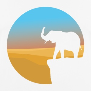 Sunset Elephant - Herre T-shirt svedtransporterende