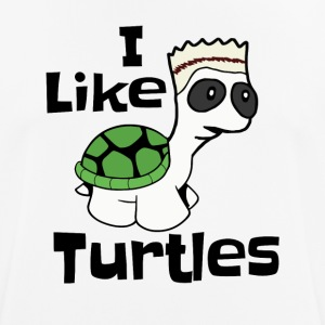 Funny I like turtles design - mannen T-shirt ademend
