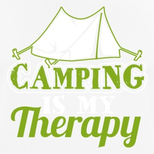 Camping is my Therapy - Männer T-Shirt atmungsaktiv