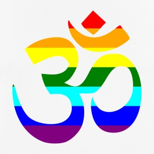 Rainbow Om sign - Men's Breathable T-Shirt