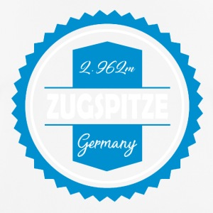 Zugspitze Coaster Blue-White | Bavaria - Men's Breathable T-Shirt