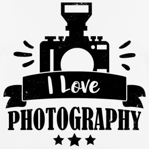 I Love Photography - Camera - Men's Breathable T-Shirt