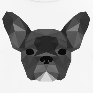 Low Poly Frenchie grijs - mannen T-shirt ademend