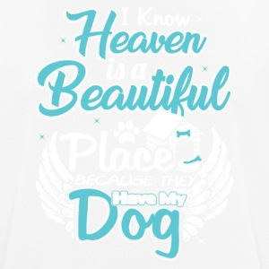 The sky has my dog ​​design - Men's Breathable T-Shirt