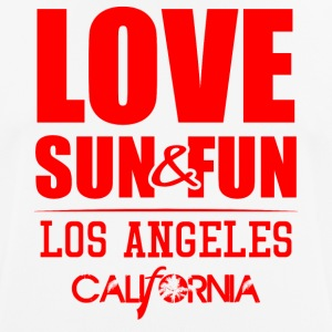Love, Sun & Fun · Los Angeles · Kalifornien - Andningsaktiv T-shirt herr