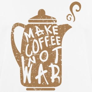 Make coffee not war - Men's Breathable T-Shirt