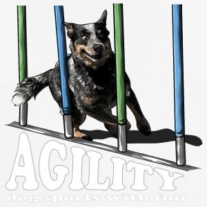 AGILITY Cattle Dog - Men's Breathable T-Shirt