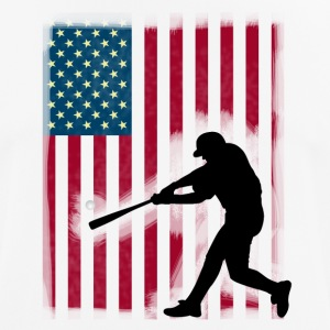 baseball bat hit baseball Sport USA Team - Herre T-shirt svedtransporterende